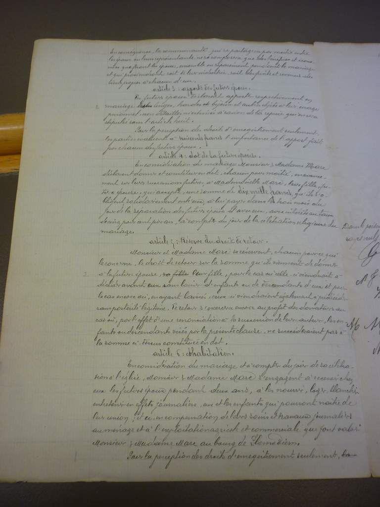 Contrat de mariage SEZNEC / MARC(2)