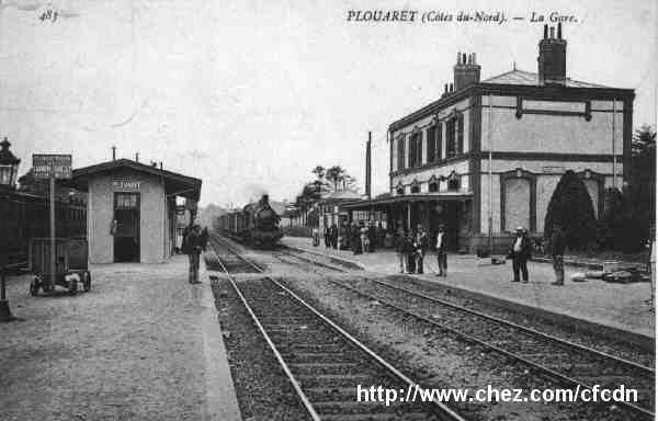 La gare de Plouaret.