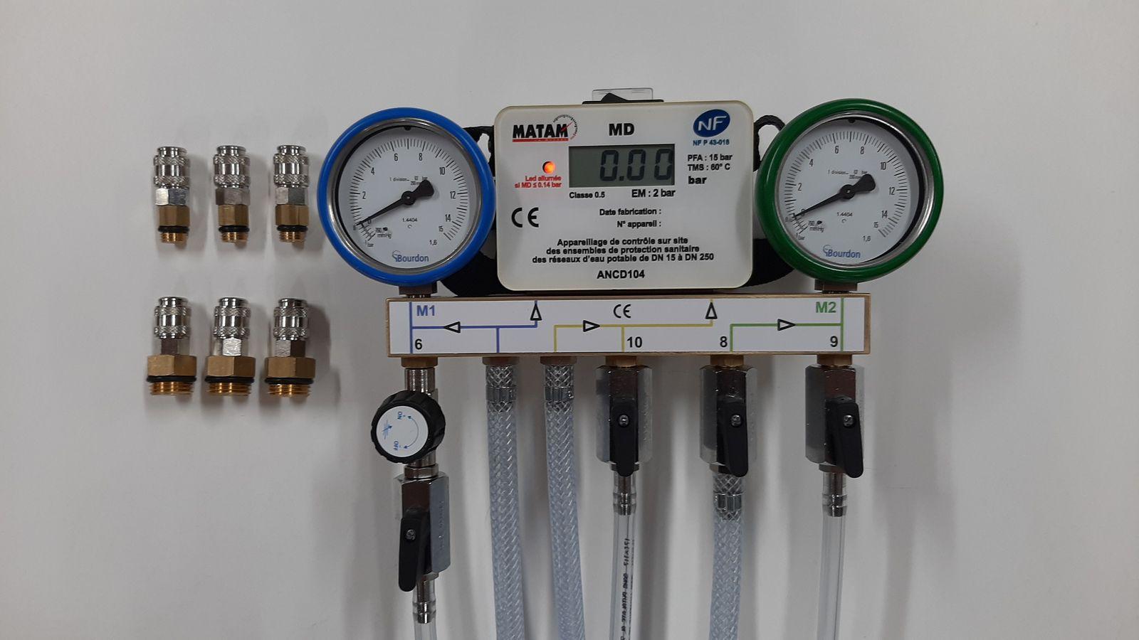 Appareil de contrôle de disconnecteur ANCD104 NF