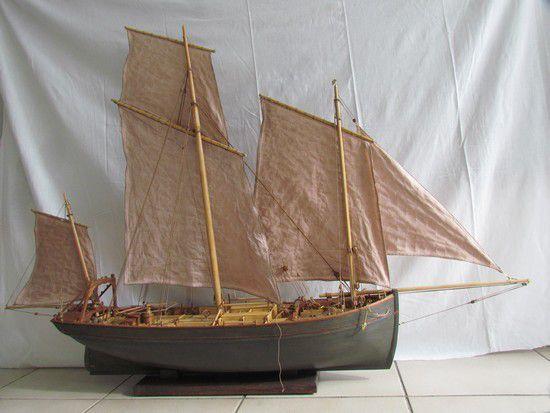 Modélisme naval : Lougre harenguier de Fécamp 1875