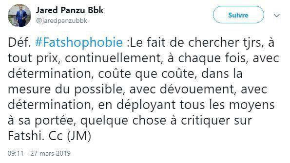Fatshophobie ou haïr Félix Tshisekedi