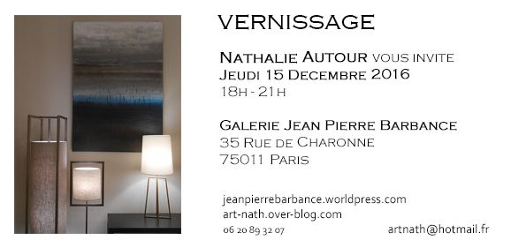 vernissage galerie jean pierre barbance art nath. Black Bedroom Furniture Sets. Home Design Ideas