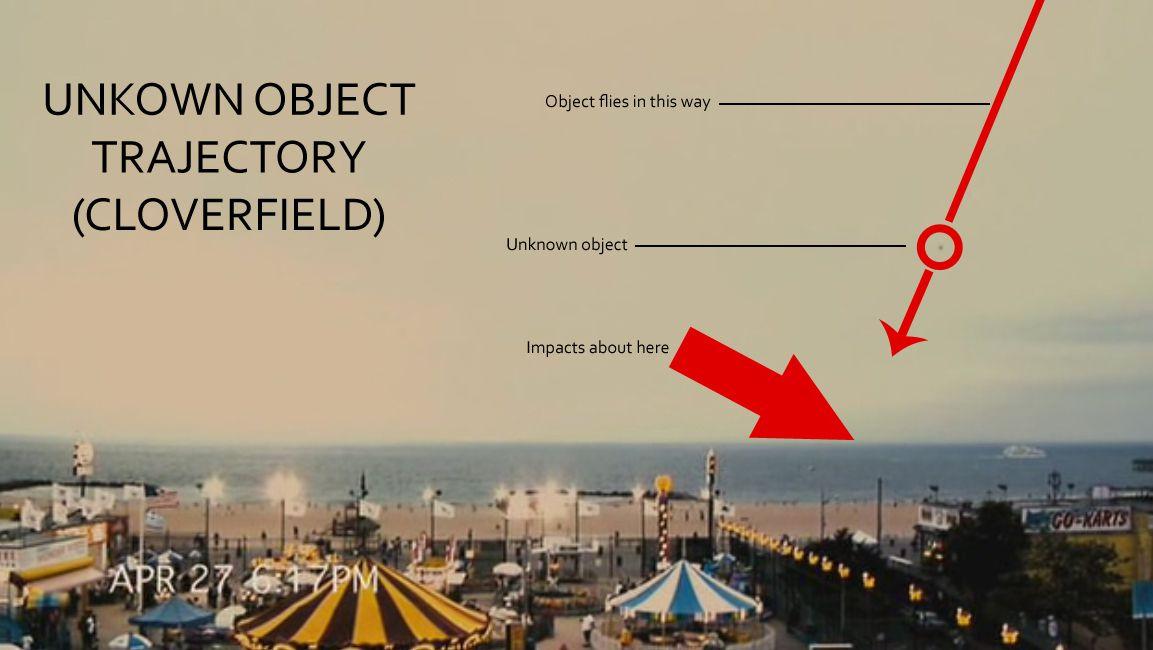 Image avec des grosses flèches provenant de Cloverfield Wiki.