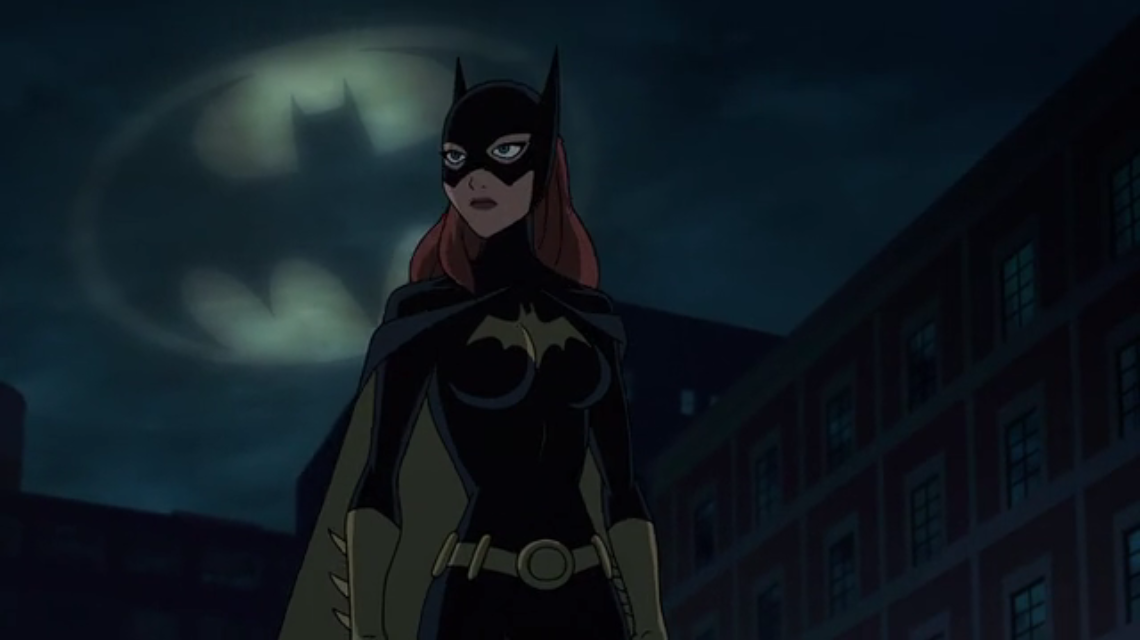 The Batsign and Batgirl. What does this mean ? It means Batman can retire.