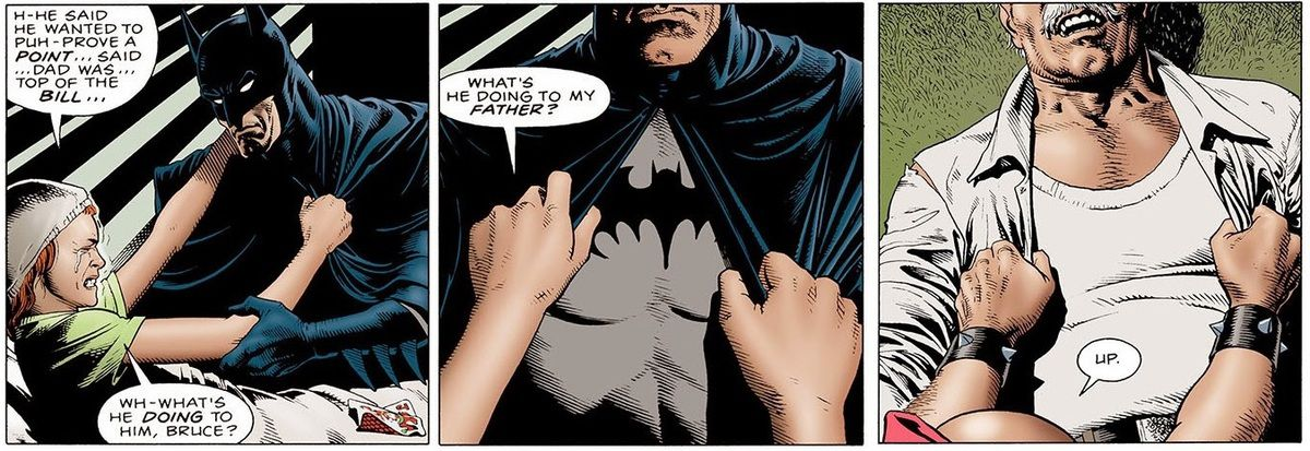 Why do you think Batman's chest was removed from the animated version ?