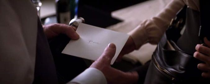 Why writing a letter to Bruce in the first place ? Ah yeah, she knows that she's next on the Joker's list.