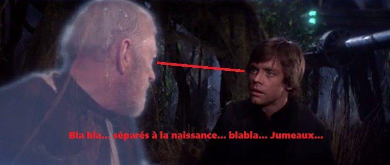 Star Wars : Leïa n'est pas la soeur de Luke (2200 mots).