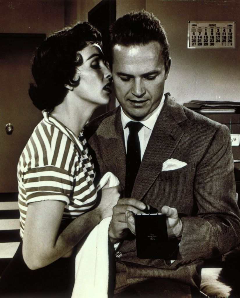 In Kiss Me Deadly, Mike Hammer doesn't touch his short-haired super hot secretary who craves for love-making, because he's gay.