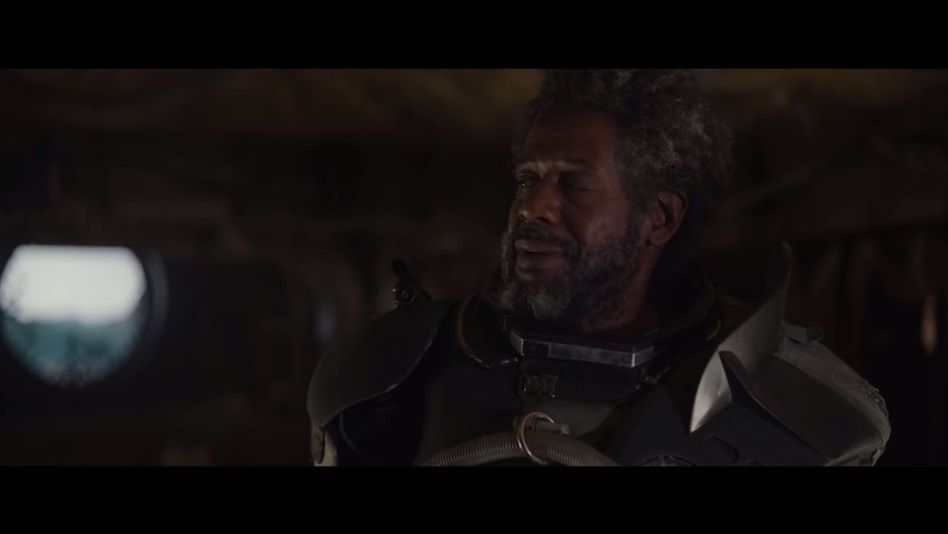 Saw Gerrera, the guy who welcomes death with open arms because he loves Jin Erso and he knows what lies in wait for her.