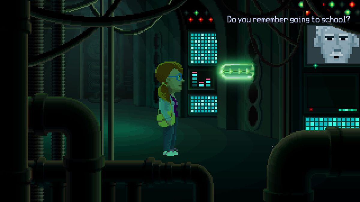 Thimbleweed Park : Delores Did Go to School (100 words)