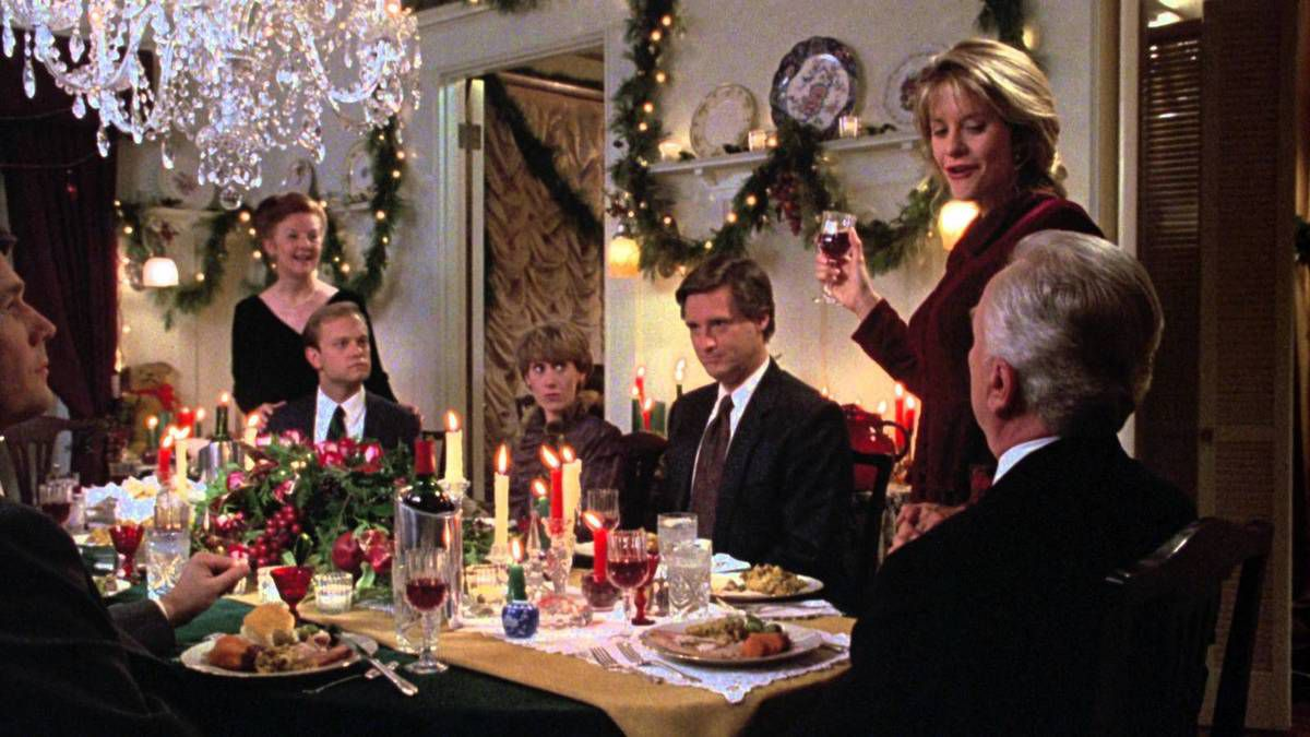 When he proposes a toast, Annie's father doesn't touch Walter's glass.