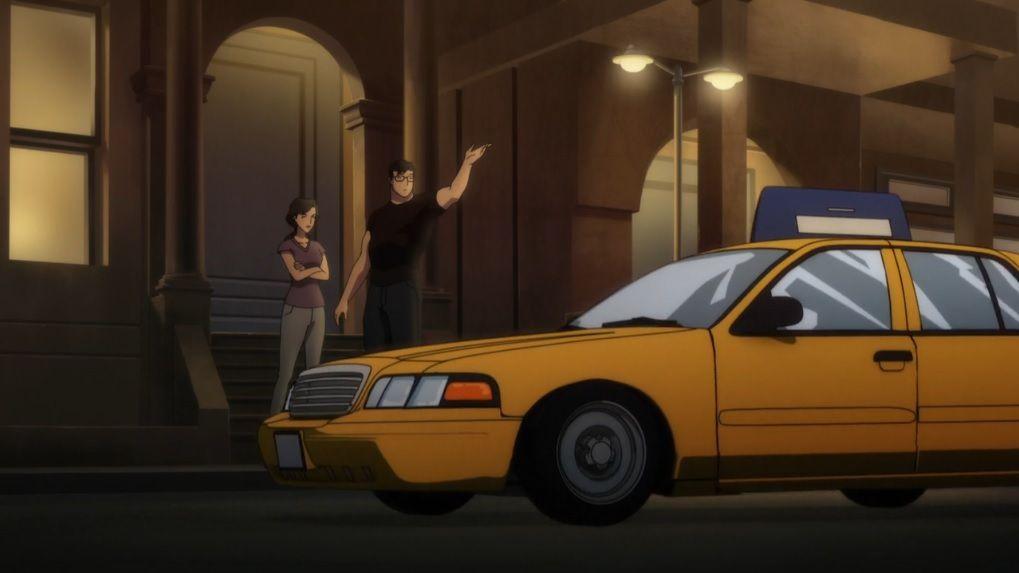 """Clark: """"Taxi"""" Lois: """"Dammit !"""""""