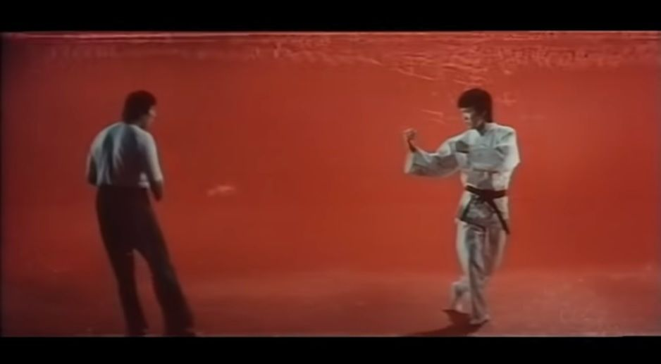 Sammo Hung perfectly imitates Bruce Lee's fighting and cinematic style in this funny introduction.