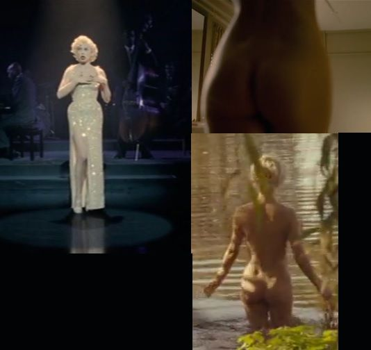 There's something strange going on with Marilyn's behind. When she's dressed, it look three sizes larger.