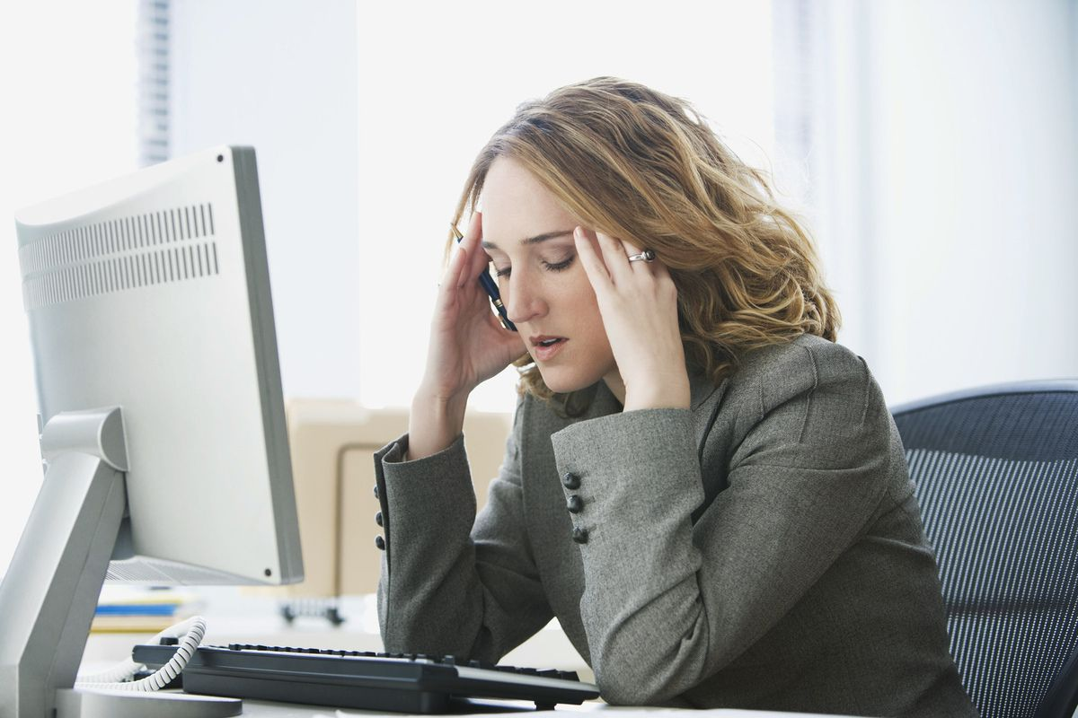 Photo d'une personne stressée (source: rogermcdonald)