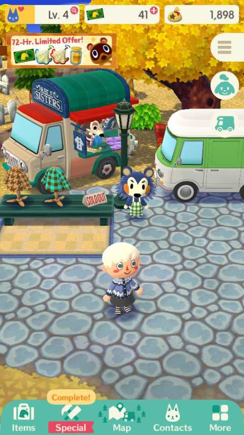 place du marché Animal Crossing Pocket Camp