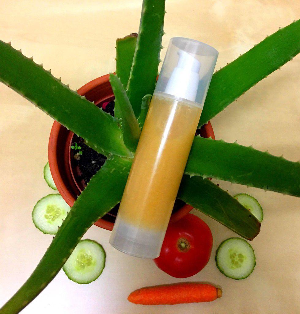 Sorbet hydratant et repulpant, pêche, aloès et légumes du potager