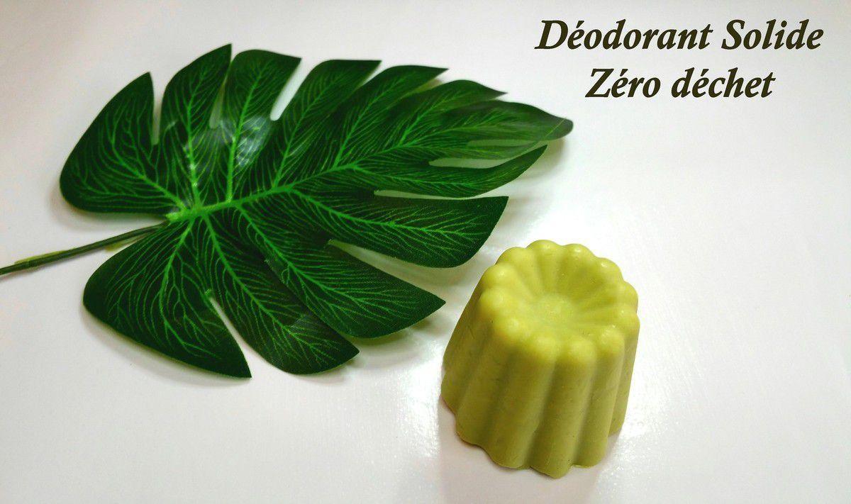 Déodorant Solide Zéro Déchet, Zinc et Plantes Purifiantes