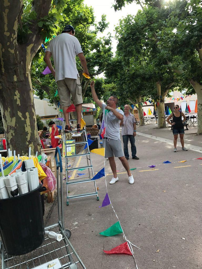 Préparatifs de la kermesse 23 juin 2017