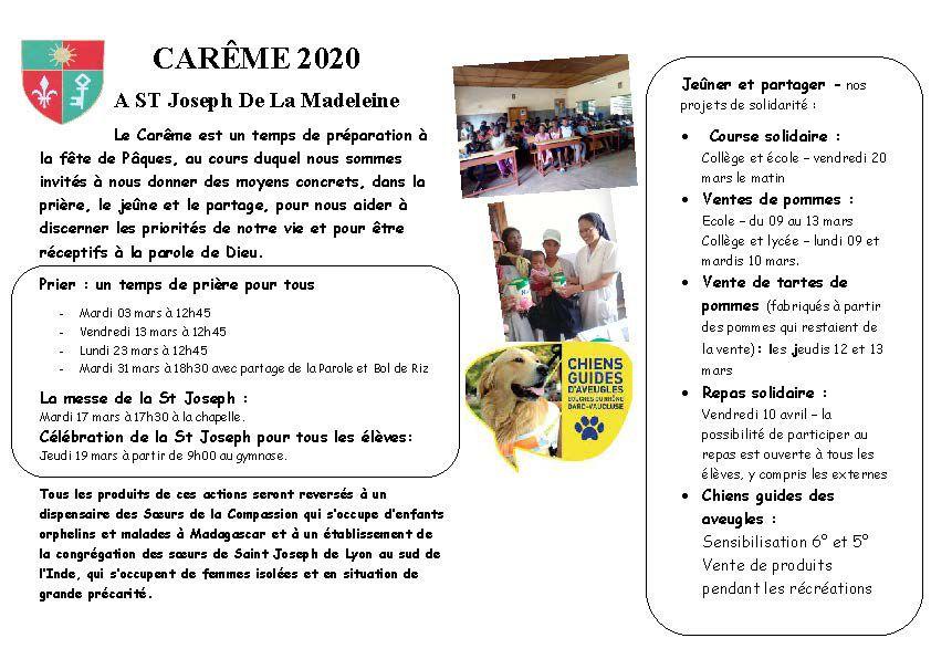 Carème 2020