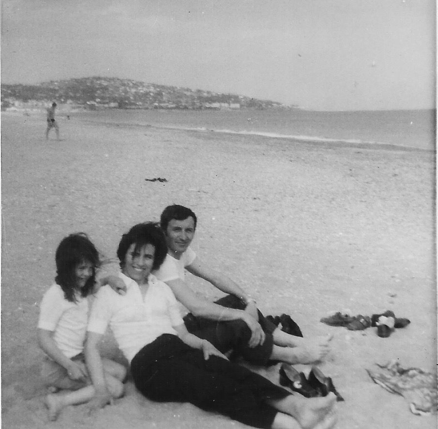 FRANCOISE MARIE ET FRANCOIS. HENDAYE .1969.