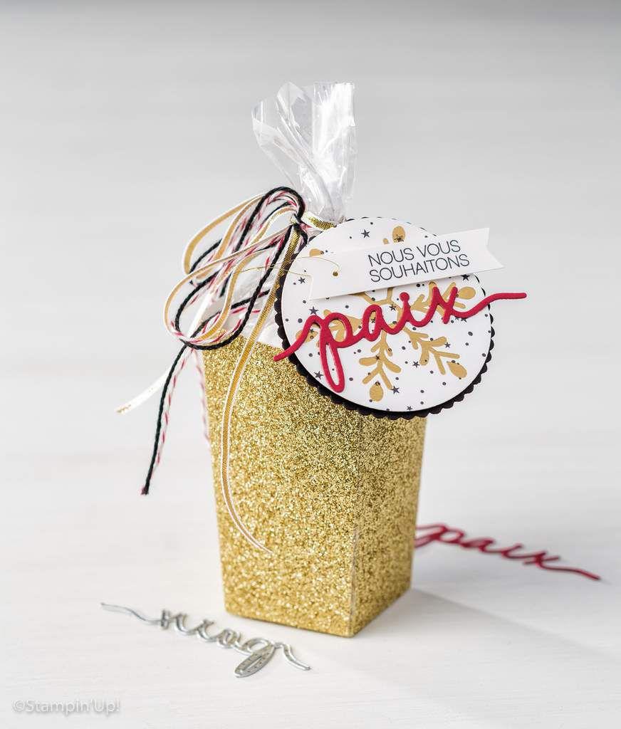 Stampin Up  découpe Thinlits Boite Pop Corn au nouveau catalogue