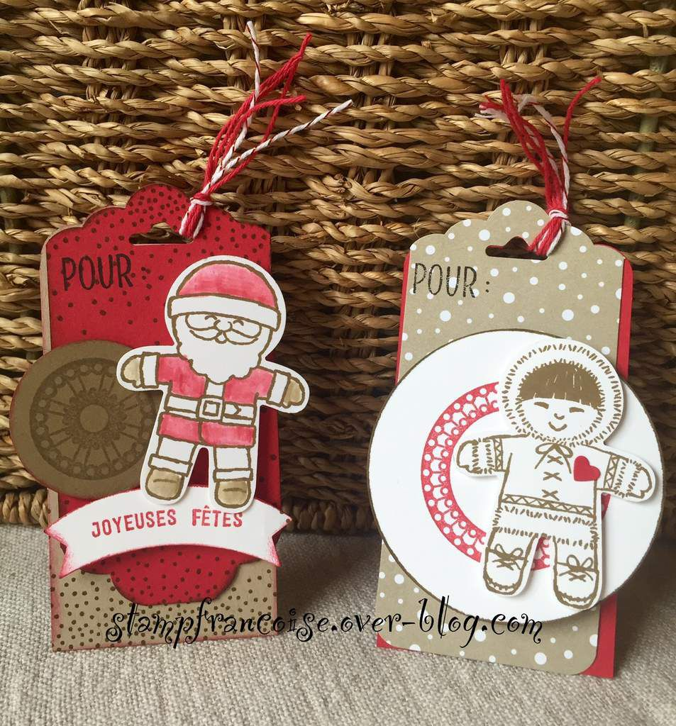 Stampin Up   Christmas Tags with Candy Cane Lane