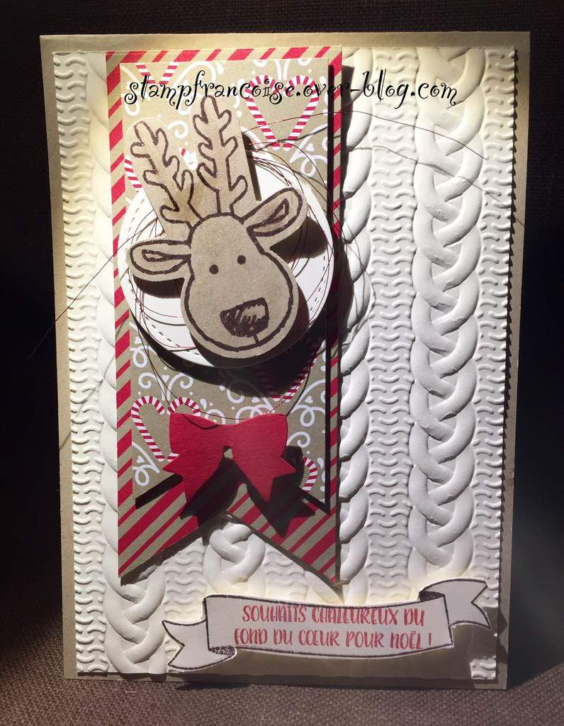 Stampin Up atelier demo pour débutantes Christmas  with Candy Cane Lane