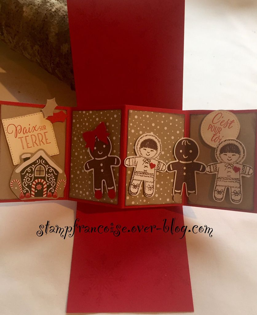 Carte Pop Up Twist card Christmas Tags with Candy Cane Lane