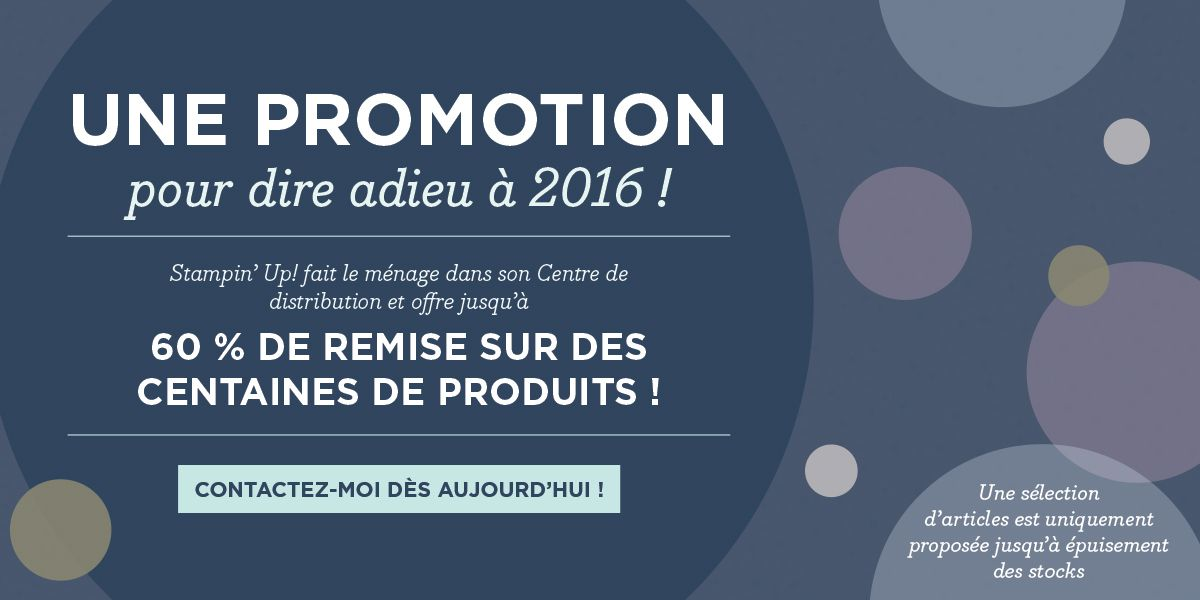 Stampin Up Promotions liquidation fin d'année