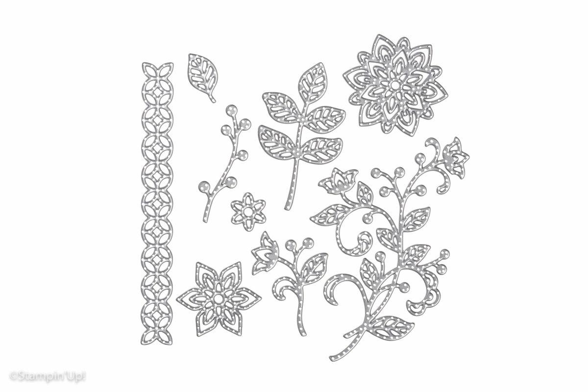 STAMPIN'UP Projet d'atelier Fête des Mères Carte/Boite Dies En Fleur / Flourish thinlits dies