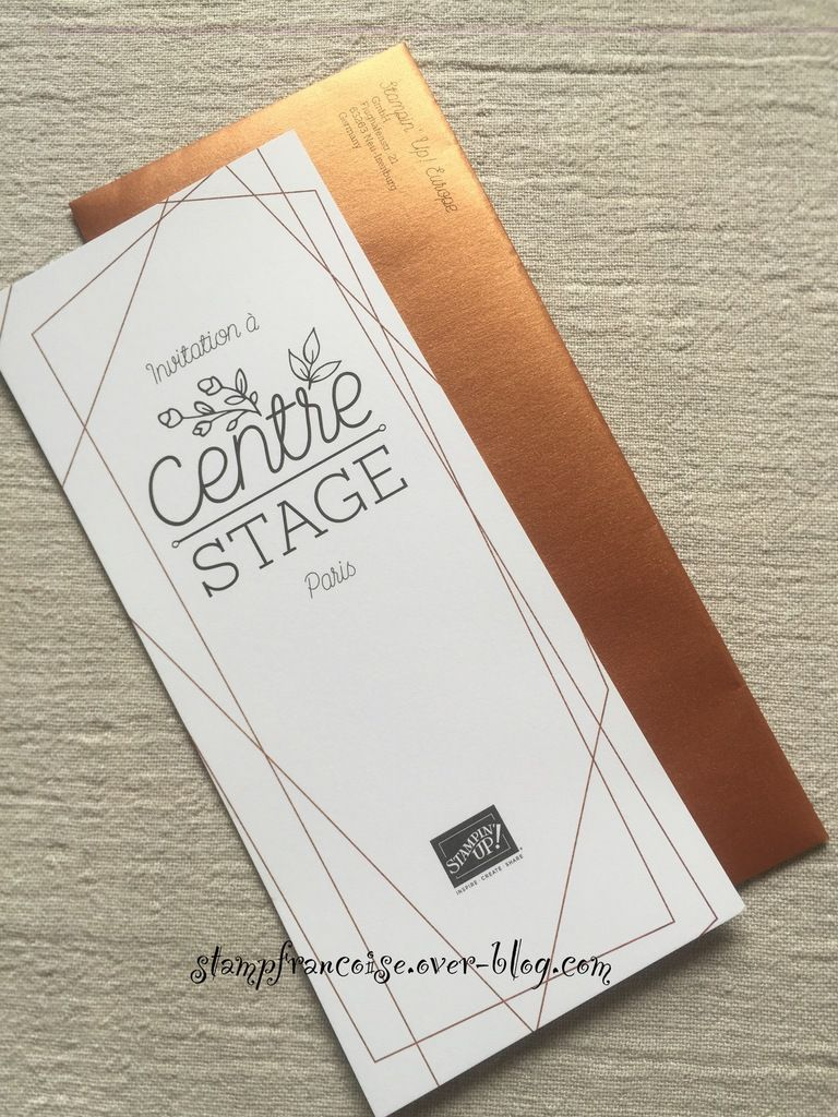 Stampin'Up! Invitation a Centre Stage