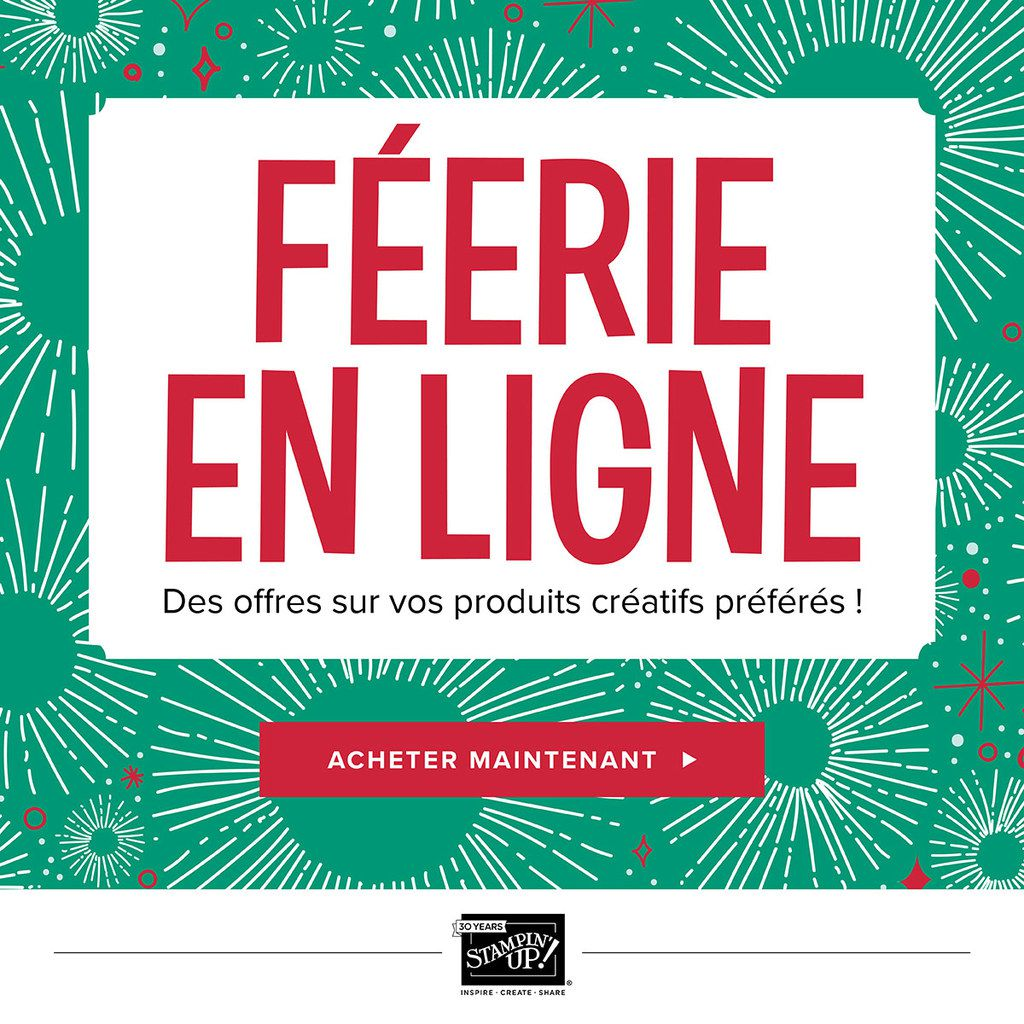 Stampin'Up!  Féeries de Noel  Promotions le 20 novembre / 24h