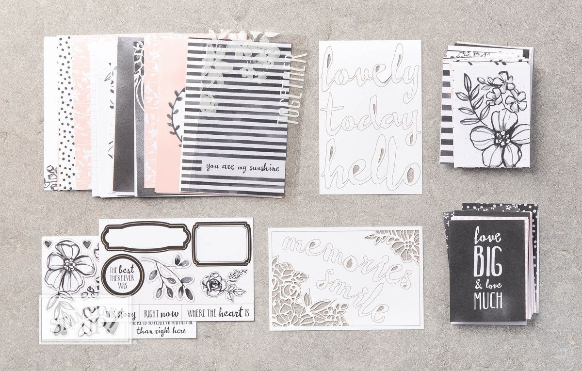 Stampin'Up!  Atelier / Crop confection d'un Album avec Le Lot de Cartes Souvenirs et Cie
