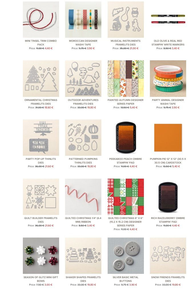 Stampin'Up!  Remises exceptionnelles  Promotions