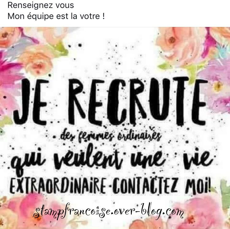 Stampin'Up!  Recrutement filleule