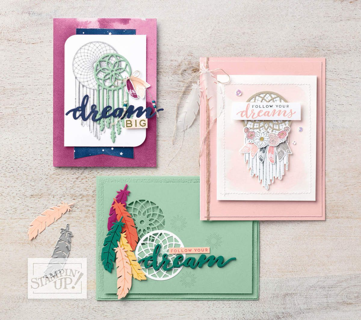 Stampin'Up!  carte Follow your Dream Attrapes rêves