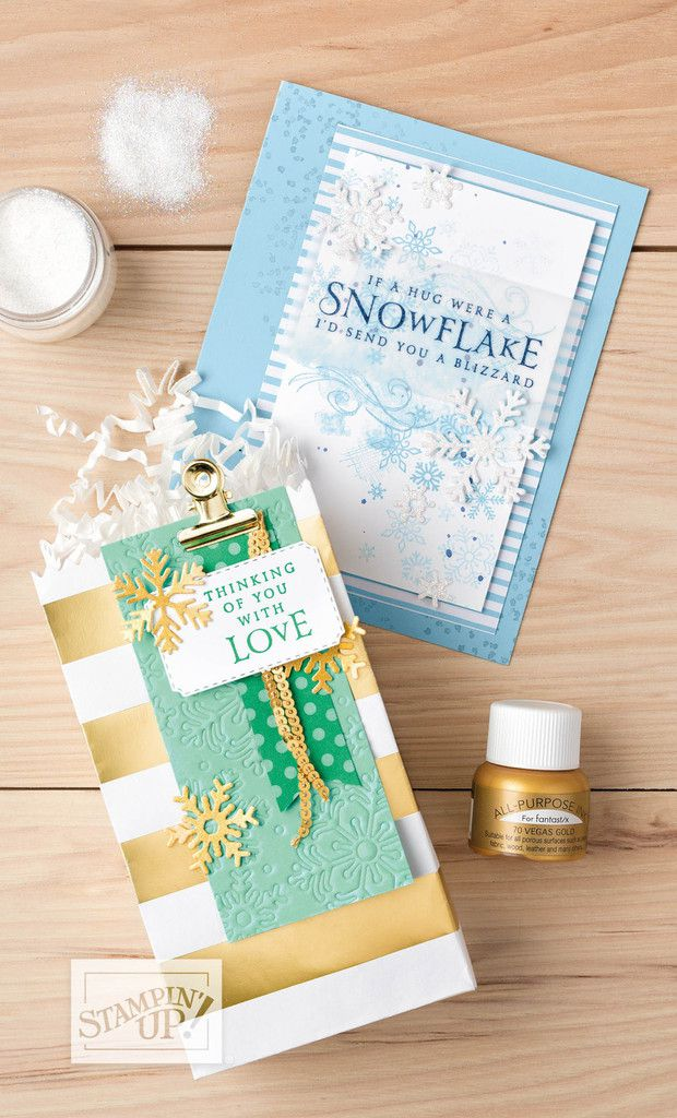 Stampin'Up! vidéo gratuite Tourbillons de Flocons+Tempete de neige /   Beautiful Blizzard Bundle by Stampin' Up!