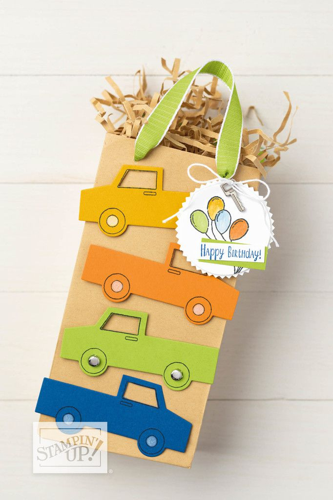 Stampin'Up! Vidéo gratuite  petit camion   / Ride With Me Bundle
