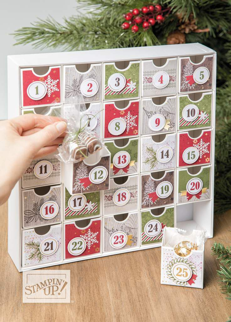 Stampin'Up! kit de Projet Calendrier de l'Avent / Christmas Countdown Project Kit By Stampin' Up!