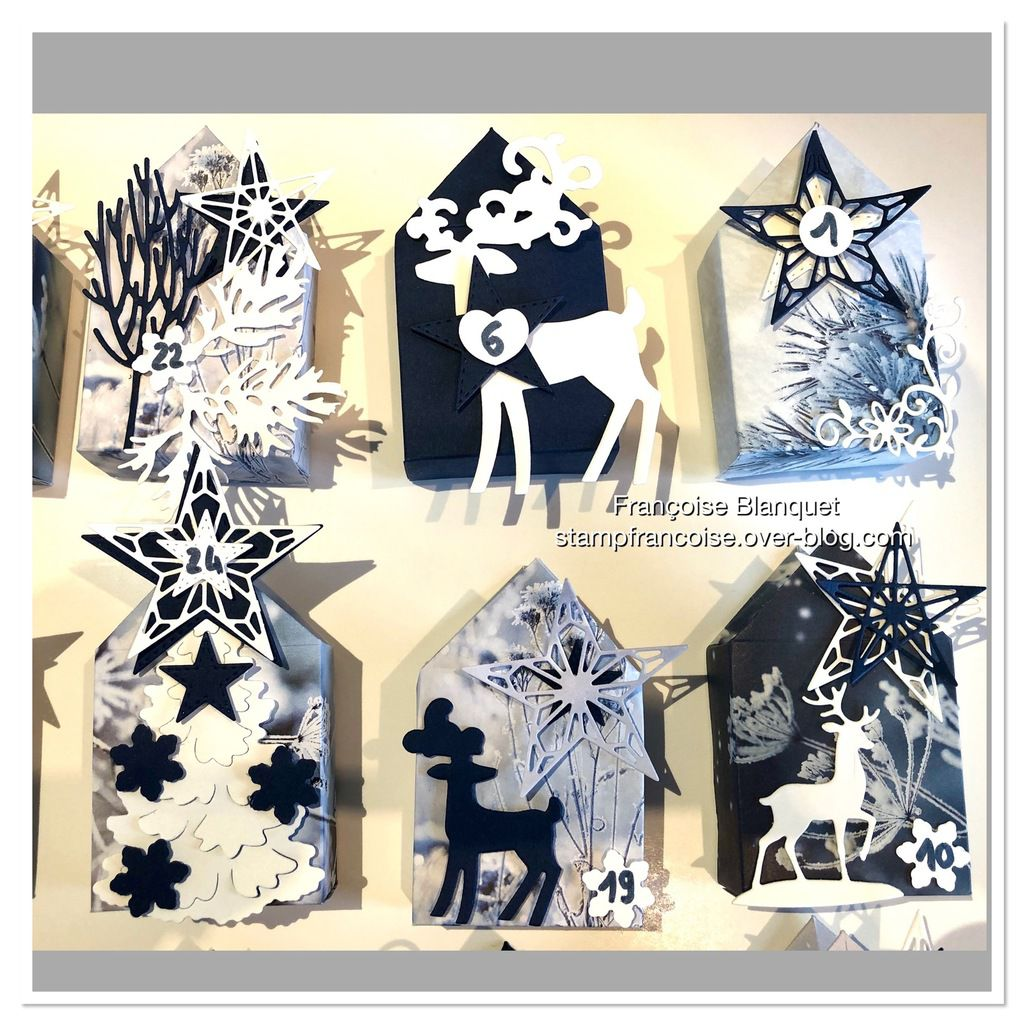 Stampin'Up!  Mes 24 boites / pochettes  gros plan