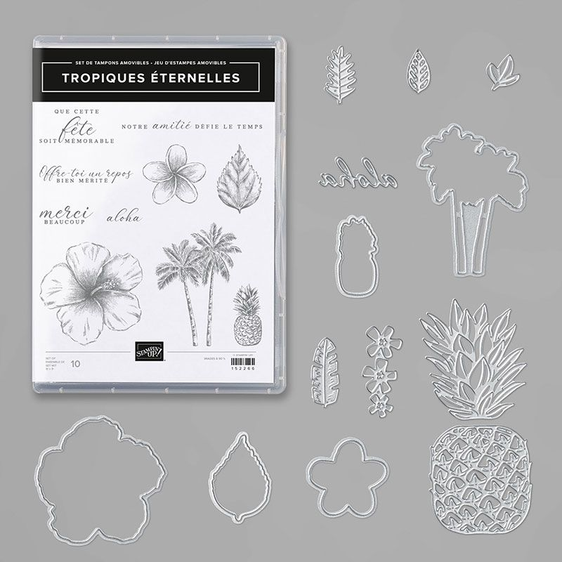 lot tampons et Dies Stampin'Up! Video gratuite collection Oasis Tropicale / Tropical Oasis Suite By Stampin' Up!