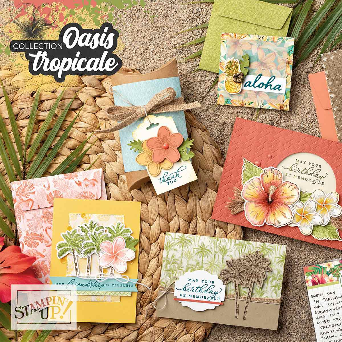 Stampin'Up! Video gratuite collection Oasis Tropicale / Tropical Oasis Suite By Stampin' Up!