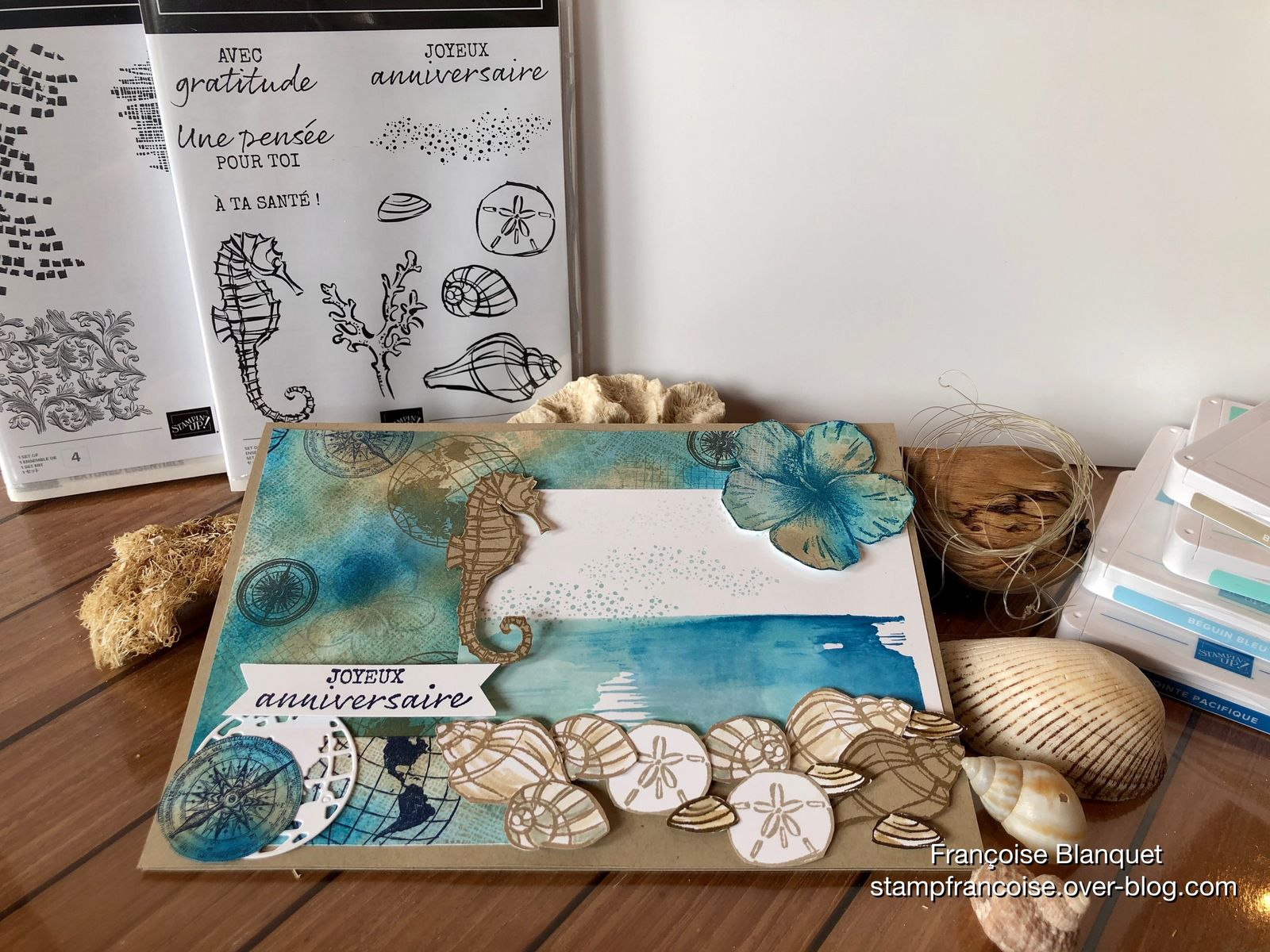 Stampin'Up!  Carte Anniversaire Style Marin