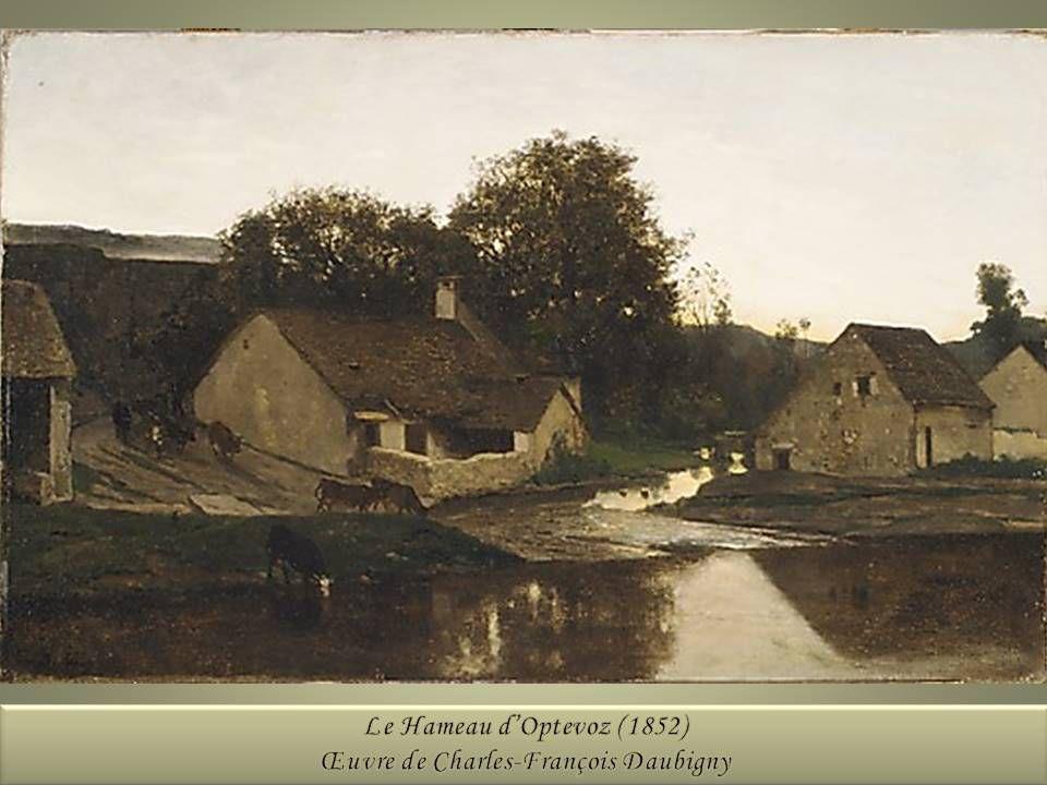 Le Hameau d'Optevoz - Peinture de Charles-François Daubigny (1852)