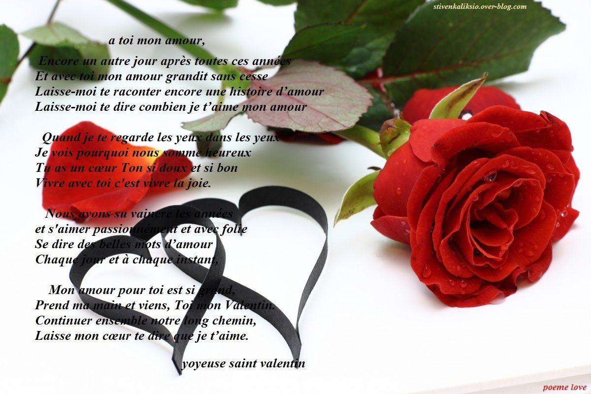 Combien De Rose Pour La St Valentin poème saint valentin - poème love
