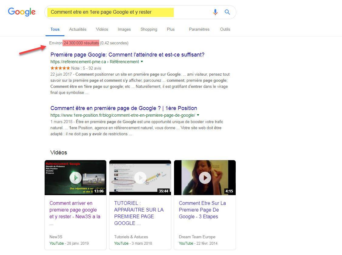 Comment arriver en 1erepage Google et y rester