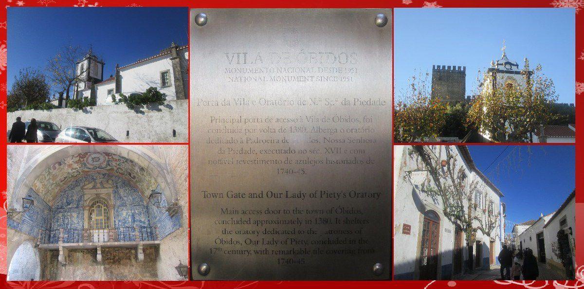 """Visite d'Obidos, la vieille ville et son """"Vila Natal"""""""