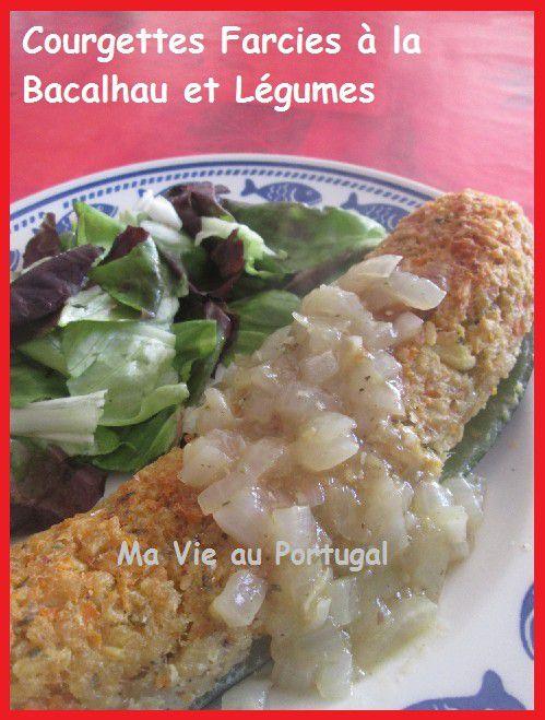 Courgette Farcie à la Bacalhau et aux Légumes