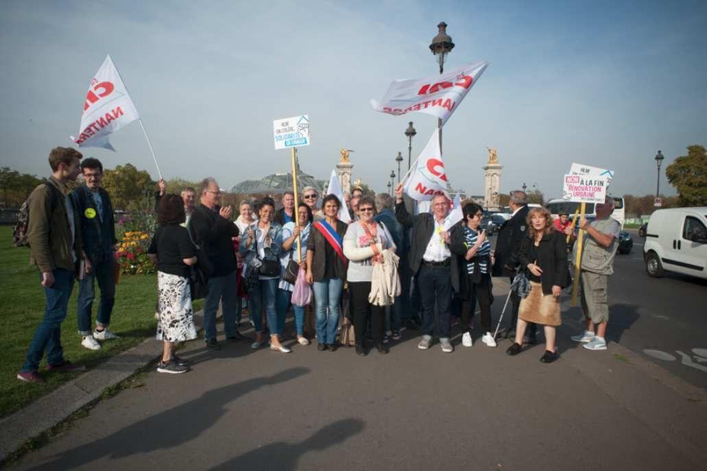 Manifestation à l'Assemblée nationale